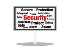 Sicherheitskonzeptzeichen stockbilder