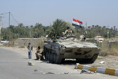 Sicherheitskräfte im Irak Lizenzfreies Stockbild