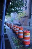 Sicherheitsmaßnahmen in NYC, das für Hurrikan prepping ist Lizenzfreie Stockbilder