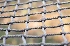 Sicherheitsnetz von dünnen Seilen Lizenzfreie Stockbilder