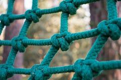 Sicherheitsnetz von starken Seilen Stockfoto