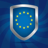 Sicherheitsschild-Ikone Europäische Gemeinschaft Lizenzfreie Stockfotografie