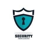 Sicherheitsschildikone, Vektorillustration Stockbilder