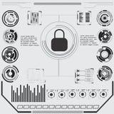 Sicherheitsschirm Futuristische Benutzerschnittstelle Lizenzfreies Stockbild