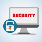 Sicherheitssystemdesign, Warnung und Technologiekonzept Lizenzfreie Stockbilder