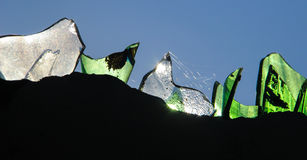 Sicherheitswandglas in ländlichem Robillard, Haiti Lizenzfreie Stockfotos