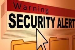 Sicherheitswarnung stock abbildung