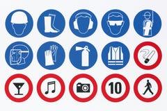 Sicherheitszeichen auf einem Schild lizenzfreie abbildung