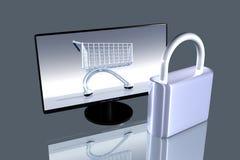 Sichern Sie das Onlineeinkaufen Lizenzfreies Stockfoto