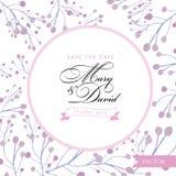 Sichern Sie die Datumskarte Blumenaquarellhand gezeichnet Lizenzfreies Stockfoto