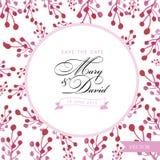 Sichern Sie die Datumskarte Blumenaquarellhand gezeichnet Lizenzfreie Stockfotos