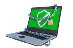 Sichern Sie Laptop Lizenzfreie Stockbilder