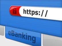 Sichern Sie online eBanking Stockfotos