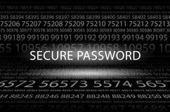 Sichern Sie Passwort Stockfoto