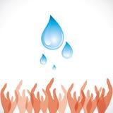 Sichern Sie Wasserkonzept stock abbildung