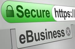 Sichern Sie Web Lizenzfreie Stockfotos