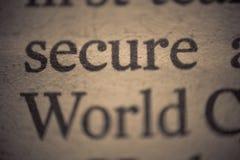 Sichern Sie Welt Lizenzfreie Stockfotos