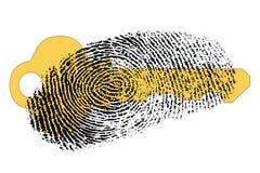 Sichern Sie Zugriff mit Fingerabdruck vektor abbildung