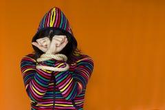 Sichernde Farbenfrau Lizenzfreies Stockfoto