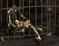 Sichernde Zombies Stockfoto