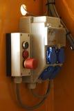 Sicherungkasten mit Notschalter Stockbild