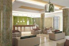 Sichtbarmachung 3D der Innenarchitektur des Hotels Lizenzfreie Stockfotografie