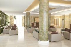 Sichtbarmachung 3D der Innenarchitektur des Hotels Stockfotografie