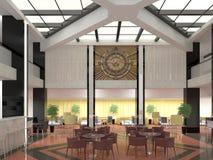 Sichtbarmachung 3D einer Caféstange in einem Geschäft, das Innenarchitektur aufbaut Stockfotos