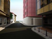 Sichtbarmachung 3D einer Fassade eines Geschäftsgebäudes Lizenzfreies Stockfoto