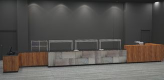 Sichtbarmachung 3D einer Innenarchitektur der Bäckerei lizenzfreie stockbilder
