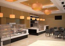 Sichtbarmachung 3D einer Innenarchitektur der Bäckerei Lizenzfreies Stockbild
