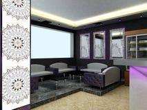 Sichtbarmachung 3D einer Innenarchitektur der Stange Stockbild
