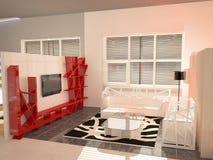 Sichtbarmachung 3D einer Innenarchitektur des Ausstellungsraums Lizenzfreie Stockbilder