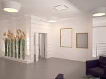 Sichtbarmachung 3D einer Innenarchitektur des Büros Lizenzfreie Stockbilder