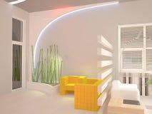Sichtbarmachung 3D einer Innenarchitektur des Büros Stockbild