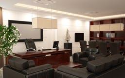 Sichtbarmachung 3D einer Innenarchitektur des Büros Stockfotografie