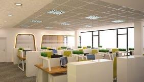 Sichtbarmachung 3D einer Innenarchitektur des Büros Stockfotos
