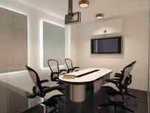 Sichtbarmachung 3D einer Innenarchitektur des Büros Stockbilder