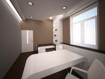 Sichtbarmachung 3D einer Innenarchitektur des Büros Stockfoto