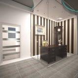 Sichtbarmachung 3D einer Innenarchitektur des Büros Lizenzfreie Stockfotos
