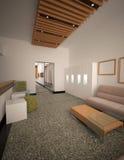 Sichtbarmachung 3D einer Innenarchitektur des Büros Lizenzfreies Stockfoto