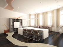 Sichtbarmachung 3D einer Innenarchitektur des Büros Lizenzfreie Stockfotografie