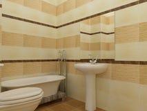 Sichtbarmachung 3D einer Innenarchitektur des Badezimmers Lizenzfreie Stockbilder