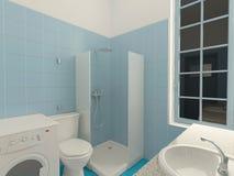 Sichtbarmachung 3D einer Innenarchitektur des Badezimmers Stockbilder