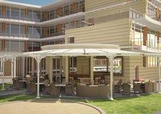 Sichtbarmachung 3D einer Innenarchitektur des Hotels Lizenzfreie Stockfotografie