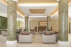 Sichtbarmachung 3D einer Innenarchitektur des Hotels Stockbild