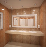 Sichtbarmachung 3D einer Innenarchitektur des Hotels Lizenzfreie Stockbilder