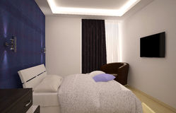 Sichtbarmachung 3D einer Innenarchitektur des Hotels Stockfoto