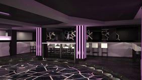 Sichtbarmachung 3D einer Innenarchitektur des Nachtclubs Stockbild