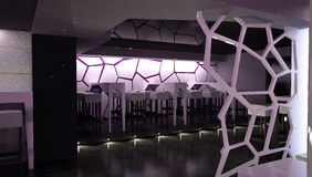 Sichtbarmachung 3D einer Innenarchitektur des Nachtclubs Lizenzfreies Stockbild
